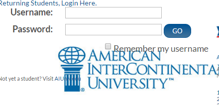 AIU American Intercontinental University Bill Payment