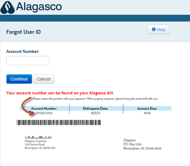 Alagasco Account Forgot Password 2
