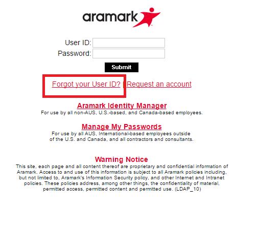 Aramark Webmail Forgot Password