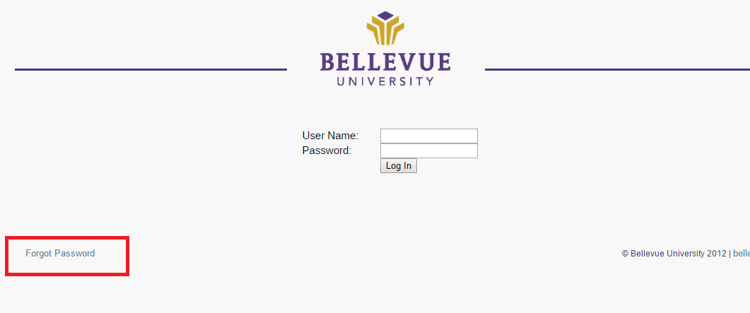 Bellevue University Bruin Student Portal Forgot Password