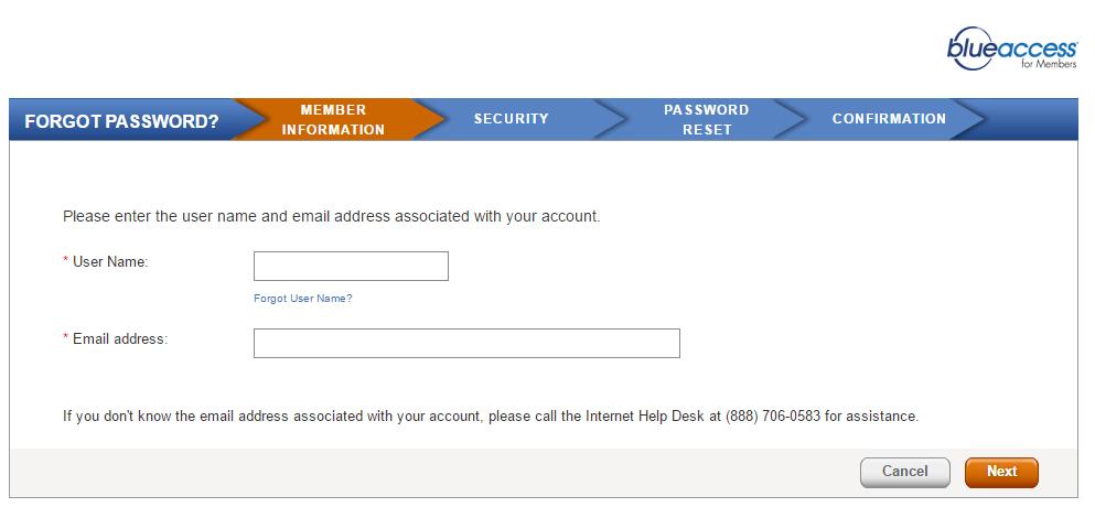 BlueCross BlueShield of Illinois Account Forgot Password