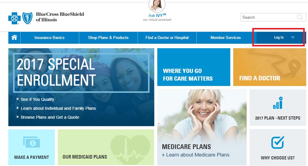 BlueCross BlueShield of Illinois Account Login