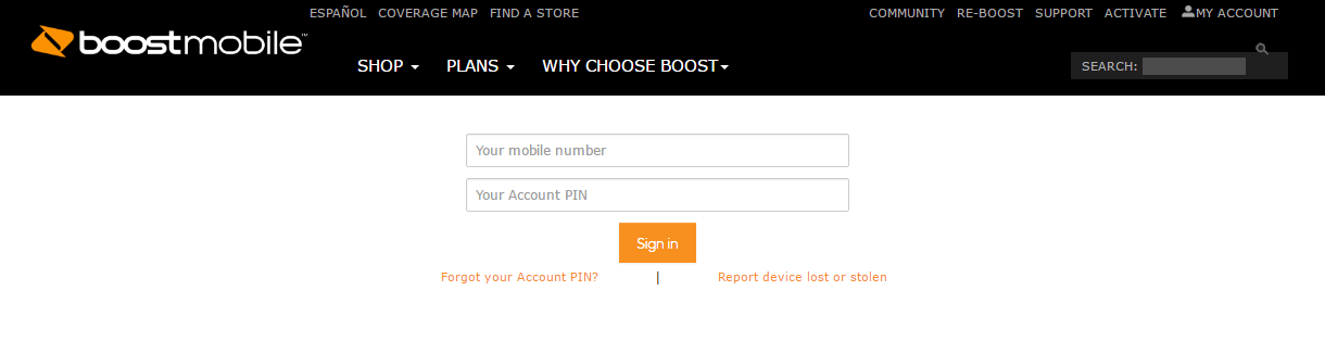 Boost Mobile Account Login