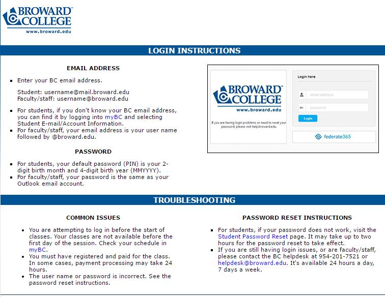 Broward College D2L Forgot Password 2
