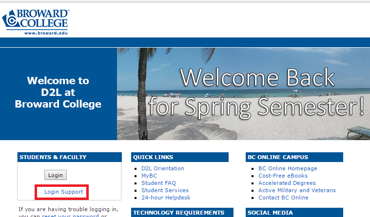 Broward College D2L Forgot Password