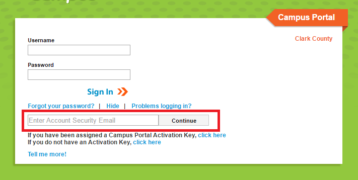 CCSD Infinite Campus Portal Forgot Username 2