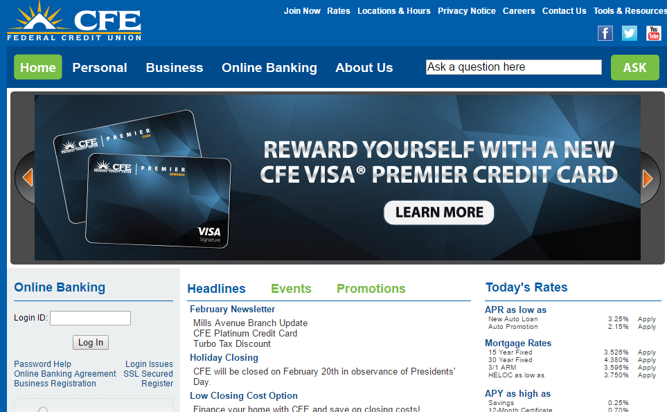 CFE Federal Credit Union Login