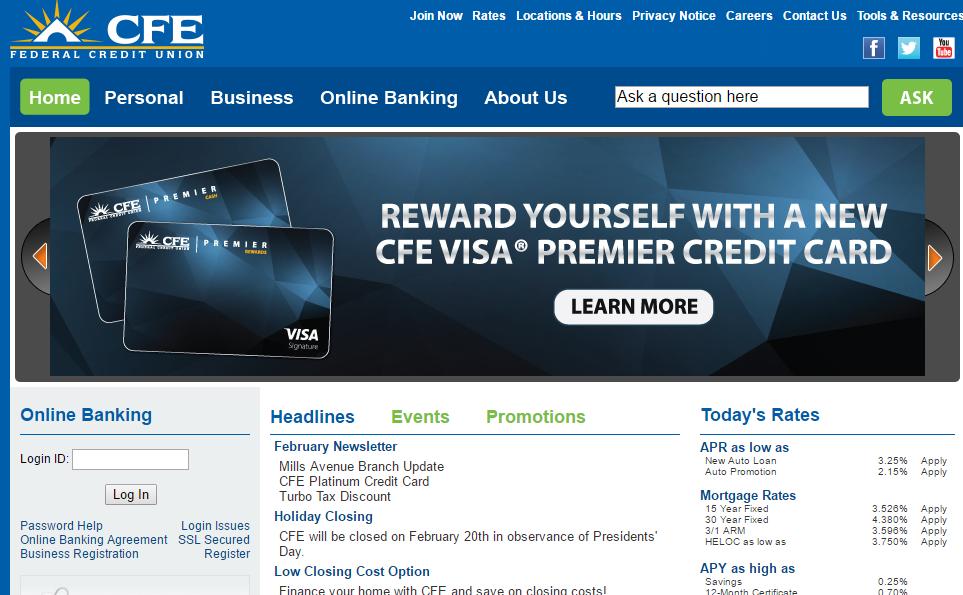 CFE Federal Credit Union Login