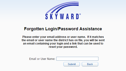Canyons School District Skyward Forgot Password 2