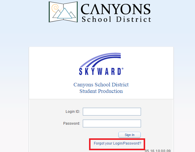 Canyons School District Skyward Forgot Password