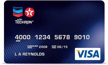 Chevron Texaco Credit Card Logo