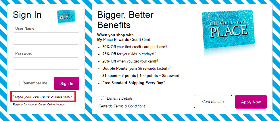 Children's Place Credit Card Login Children%E2%80%99s-Place-Credit-Card-Forgot-Password