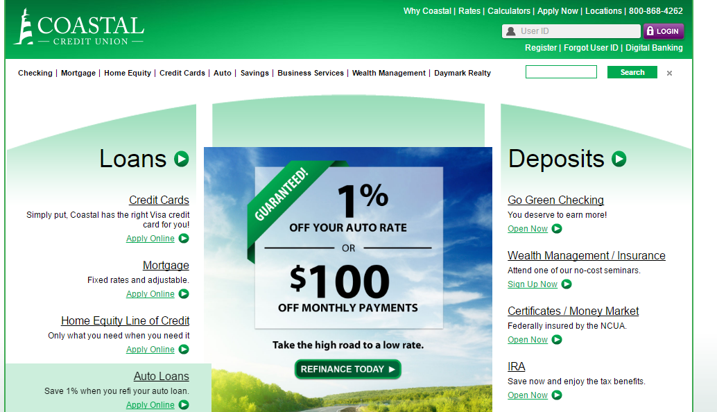 Costal Federal Credit Union Login