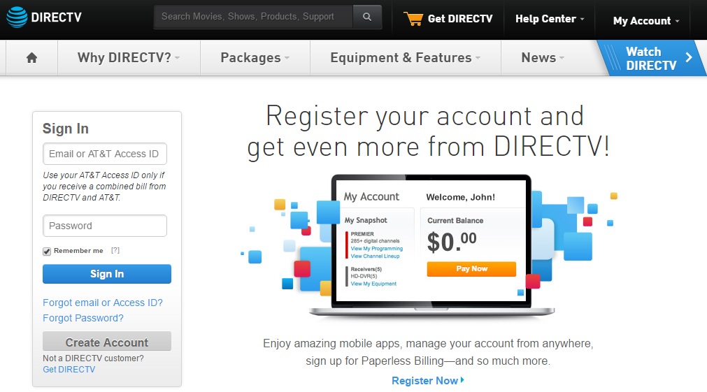 DirecTV Account Login