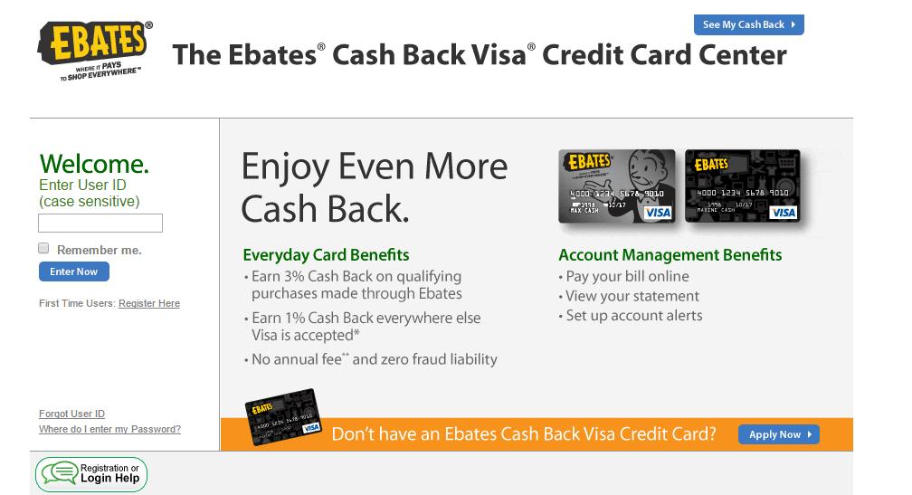 Ebates Credit Card Login