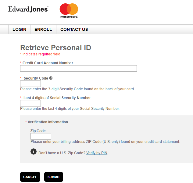 Edward Jones Credit Card Forgot Password