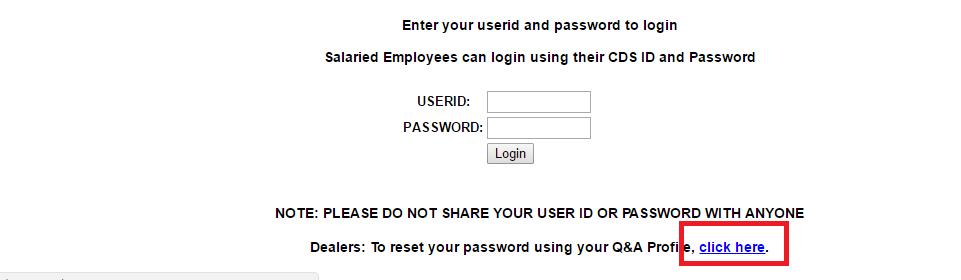 FMC Dealer Connection Forgot Password