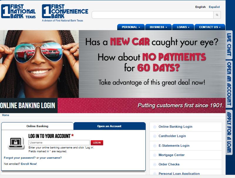 First Convenience Bank Login