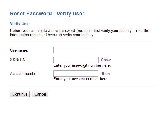 First Convenience Bank Forgot Password 4