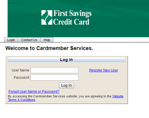 First Savings Credit Card Bill Payment