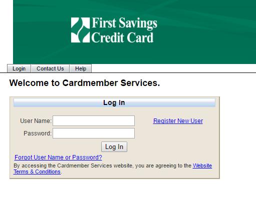 First Savings Credit Card Bill Payment