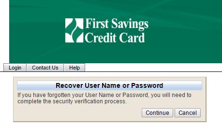 First Savings Credit Card Forgot Password 2
