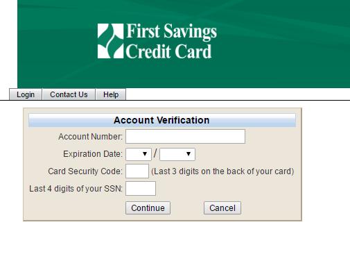 First Savings Credit Card Forgot Password 3