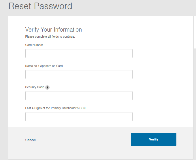 Ford Service Credit Card Forgot Password 2
