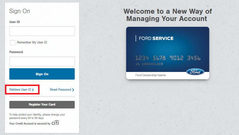Ford Service Credit Card Forgot Password 3