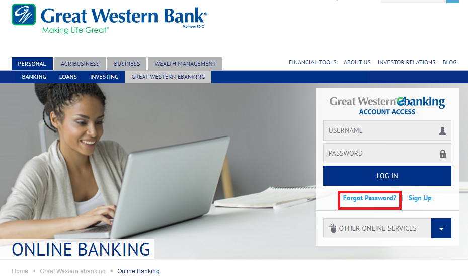 Great Western Bank Online Banking Forgot Password