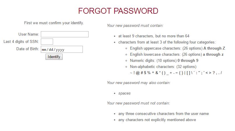 IWU Portal Forgot Password 2