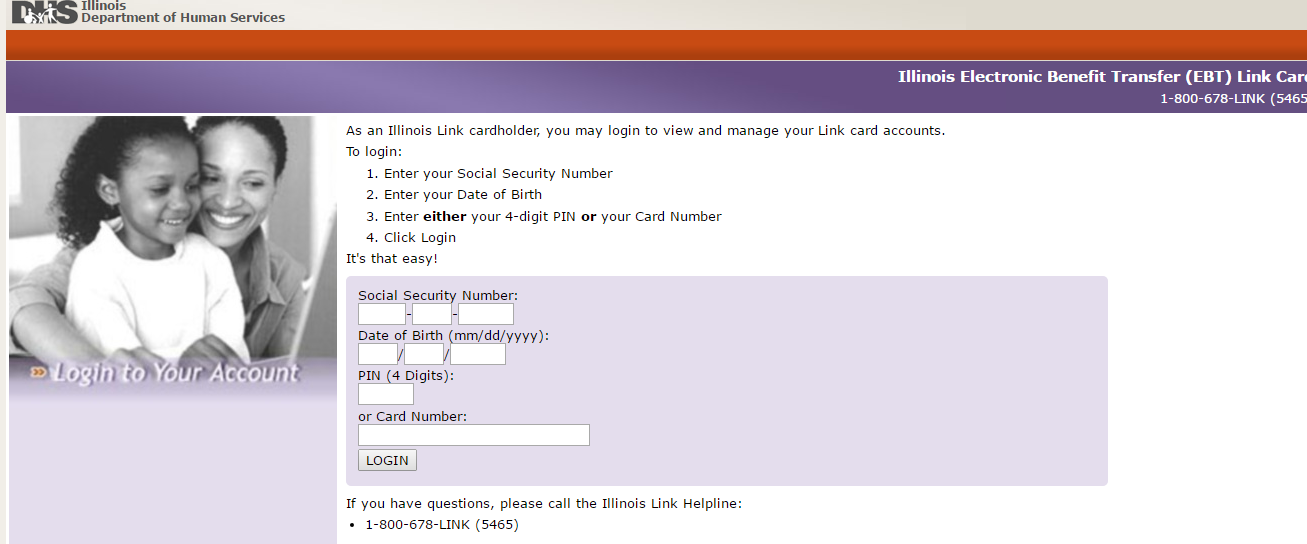 Illinois Link Card Login