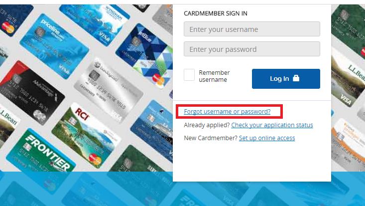 Jet Blue Credit Card Forgot Password