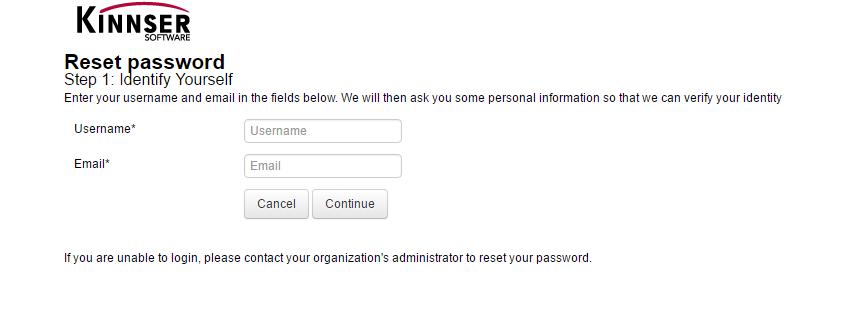Kinnser Software Account Forgot Password