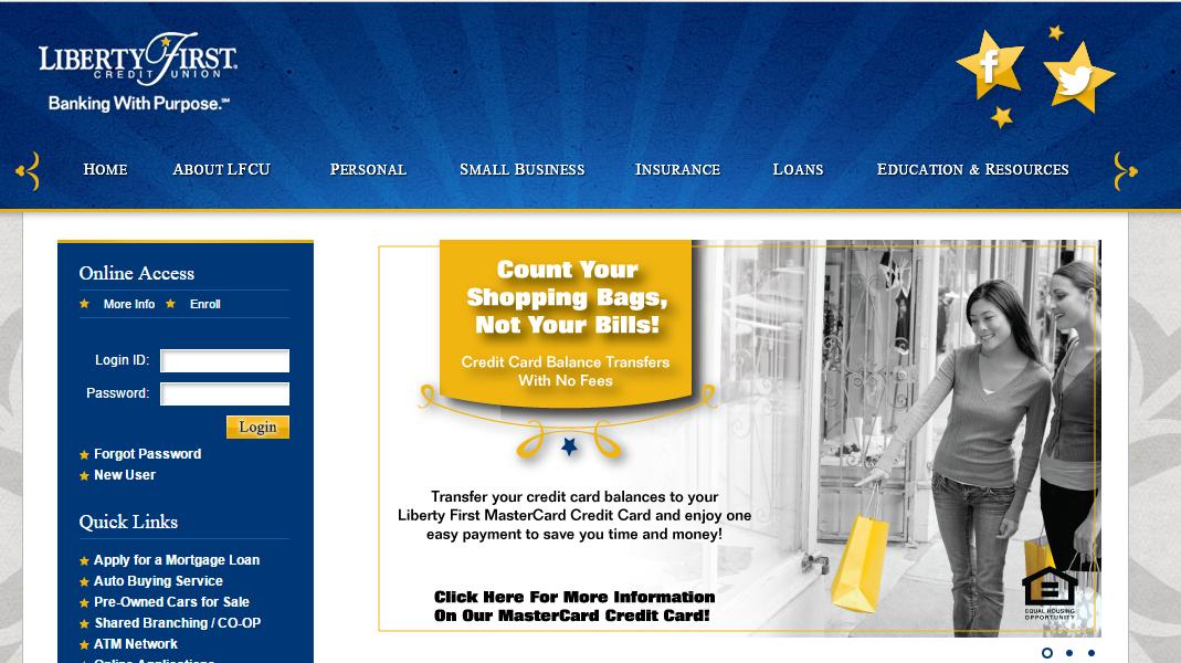 Liberty First Credit Union Login