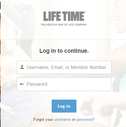 Life Time Fitness myLT Bill Payment