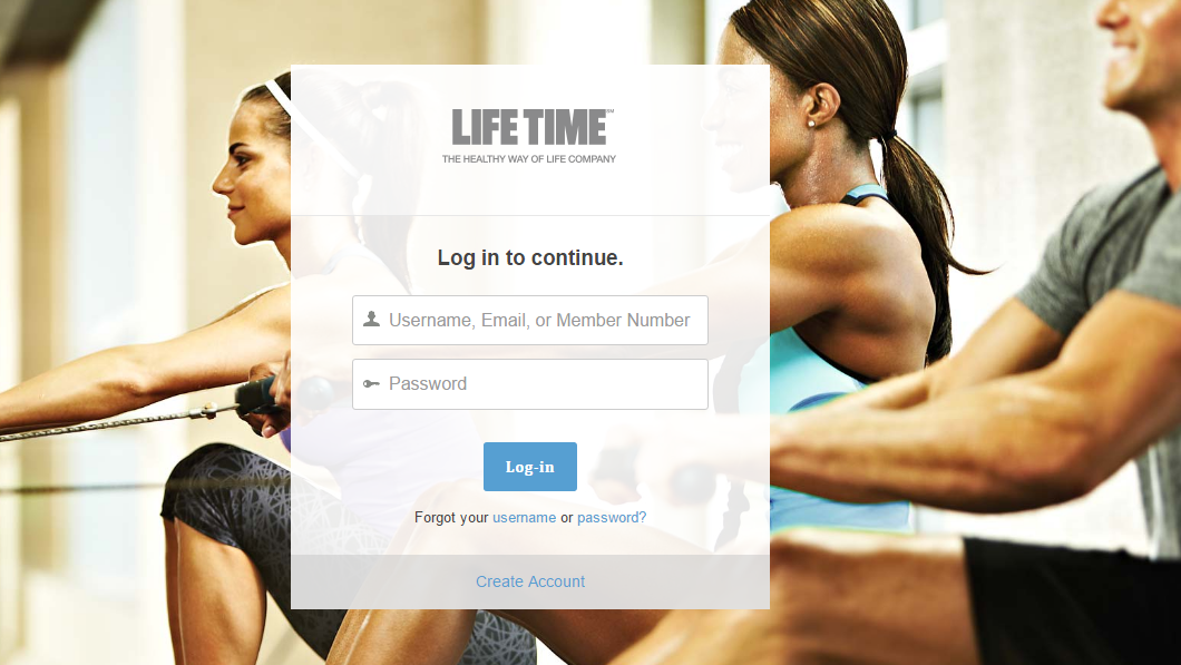 Life Time Fitness myLT Login