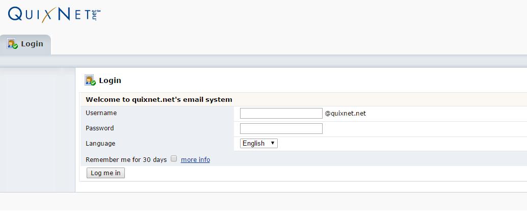 Quixnet.Net Login