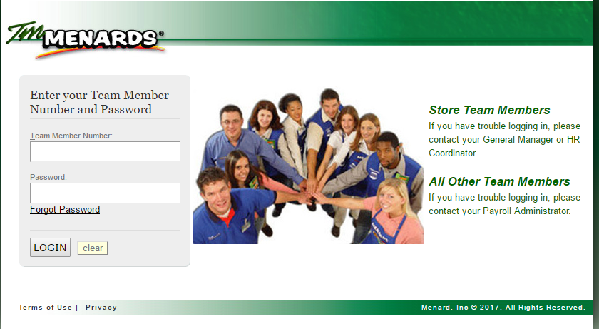 TM Menards Account Login