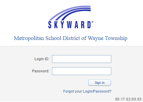 MSD of Wayne Township Skyward Bill Payment