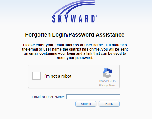 MSD of Wayne Township Skyward Forgot Password 2