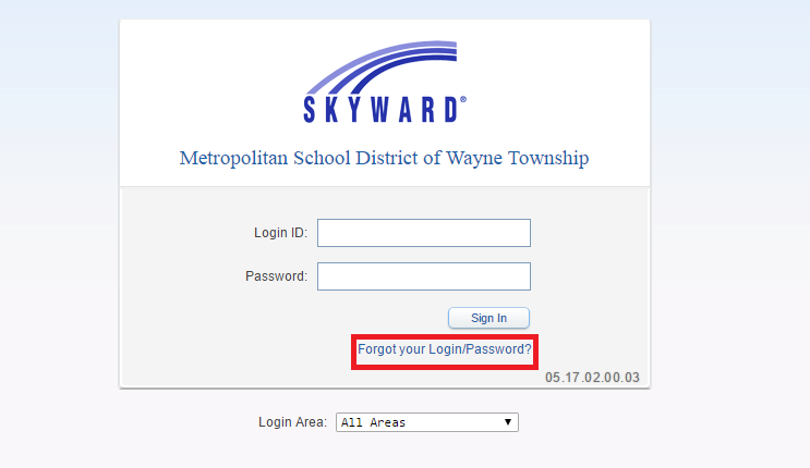 MSD of Wayne Township Skyward Forgot Password