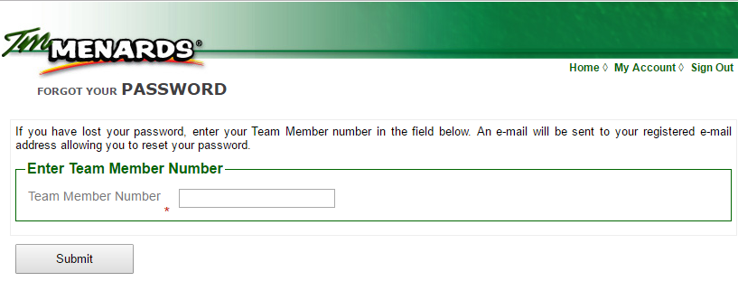 TM Menards Account Forgot Password 2