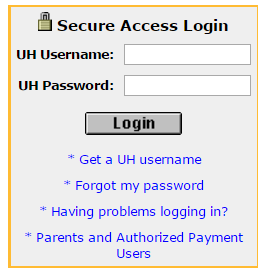 My UH Portal Bill Payment
