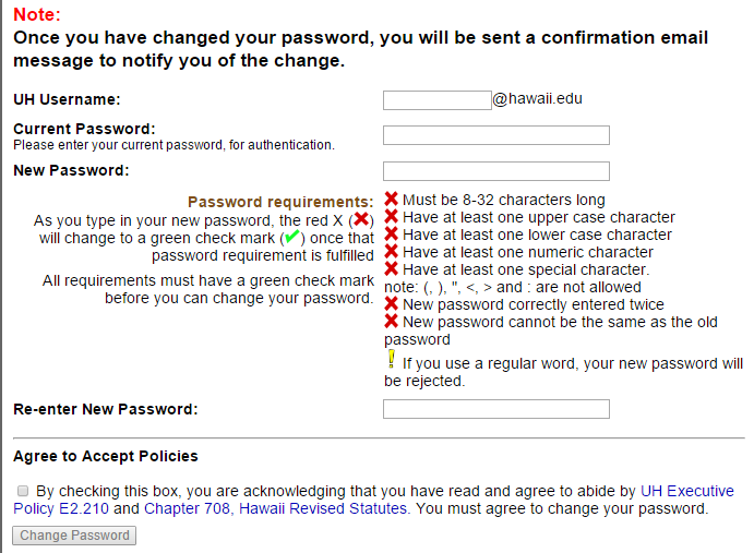 My UH Portal Forgot Password 3