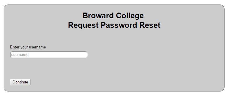 MyLabsPlus for Broward College Forgot Password 2