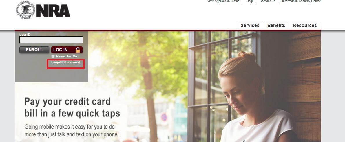 NRA Credit Card Forgot Password