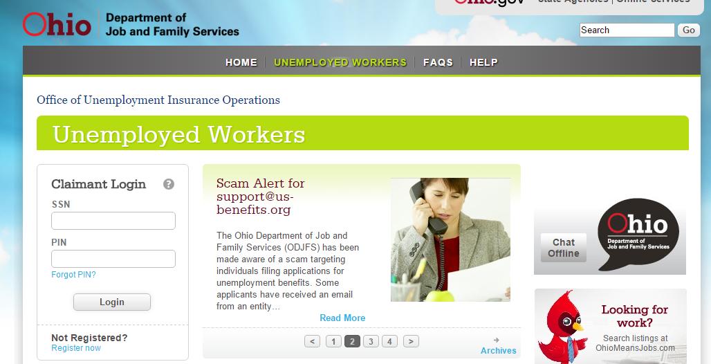 Ohio Unemployment Account Login