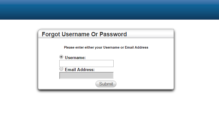 PHM HAC Forgot Password