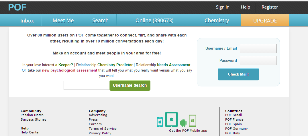 POF Plenty of Fish Login